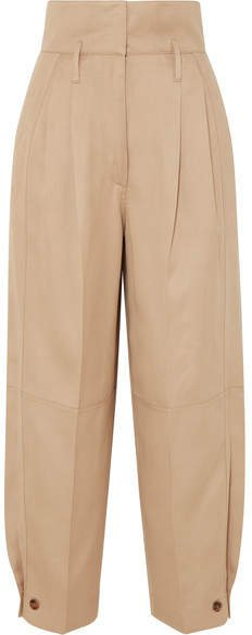 Woven Tapered Pants - Beige