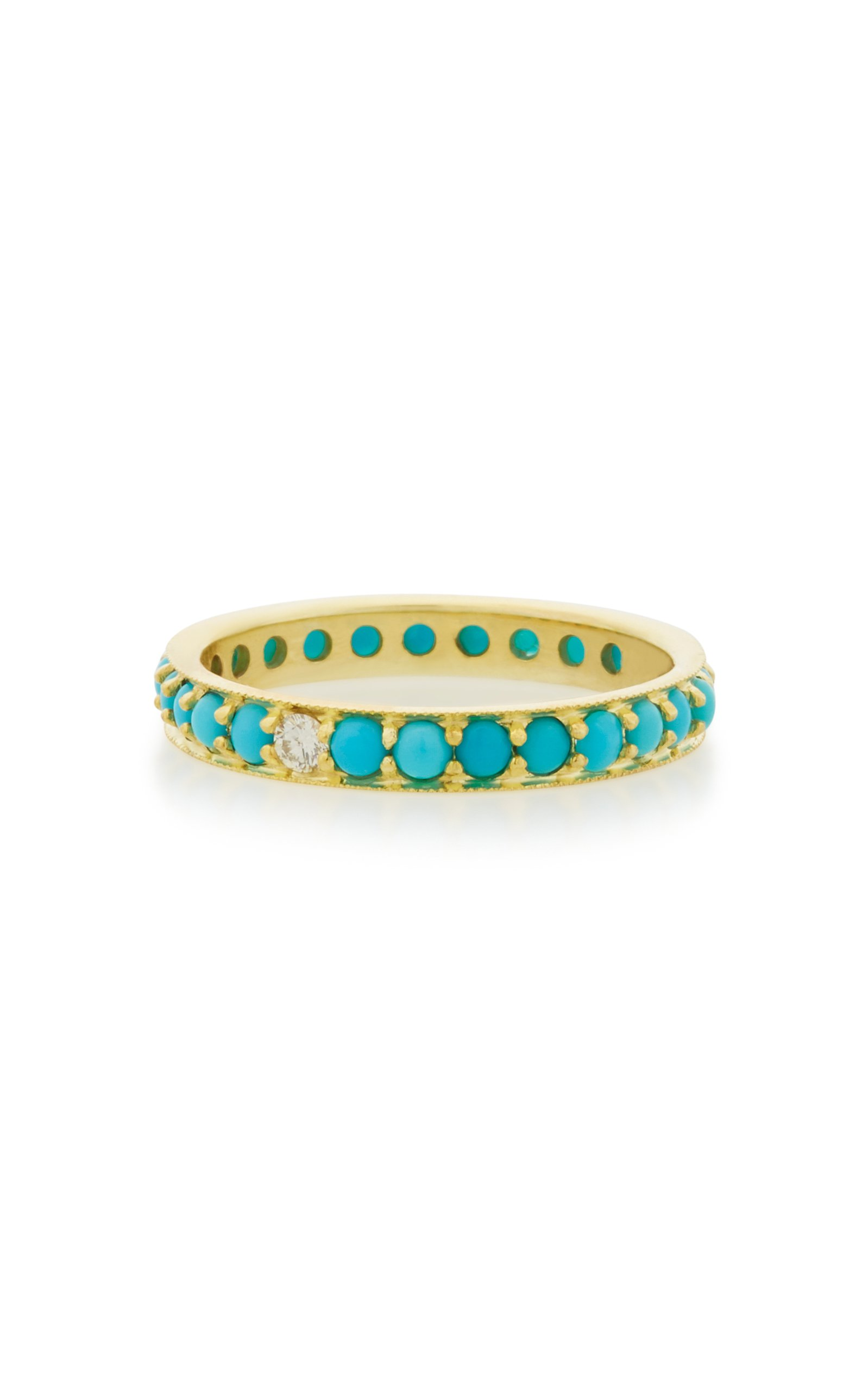 ILA Dunbar 14K Gold Turquoise and Diamond Ring