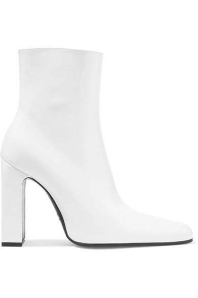 Balenciaga | Leather ankle boots | NET-A-PORTER.COM