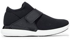 Palau Neoprene And Textured-leather Sneakers