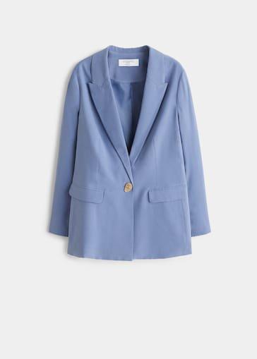 Button soft blazer - Plus sizes | Violeta by Mango USA