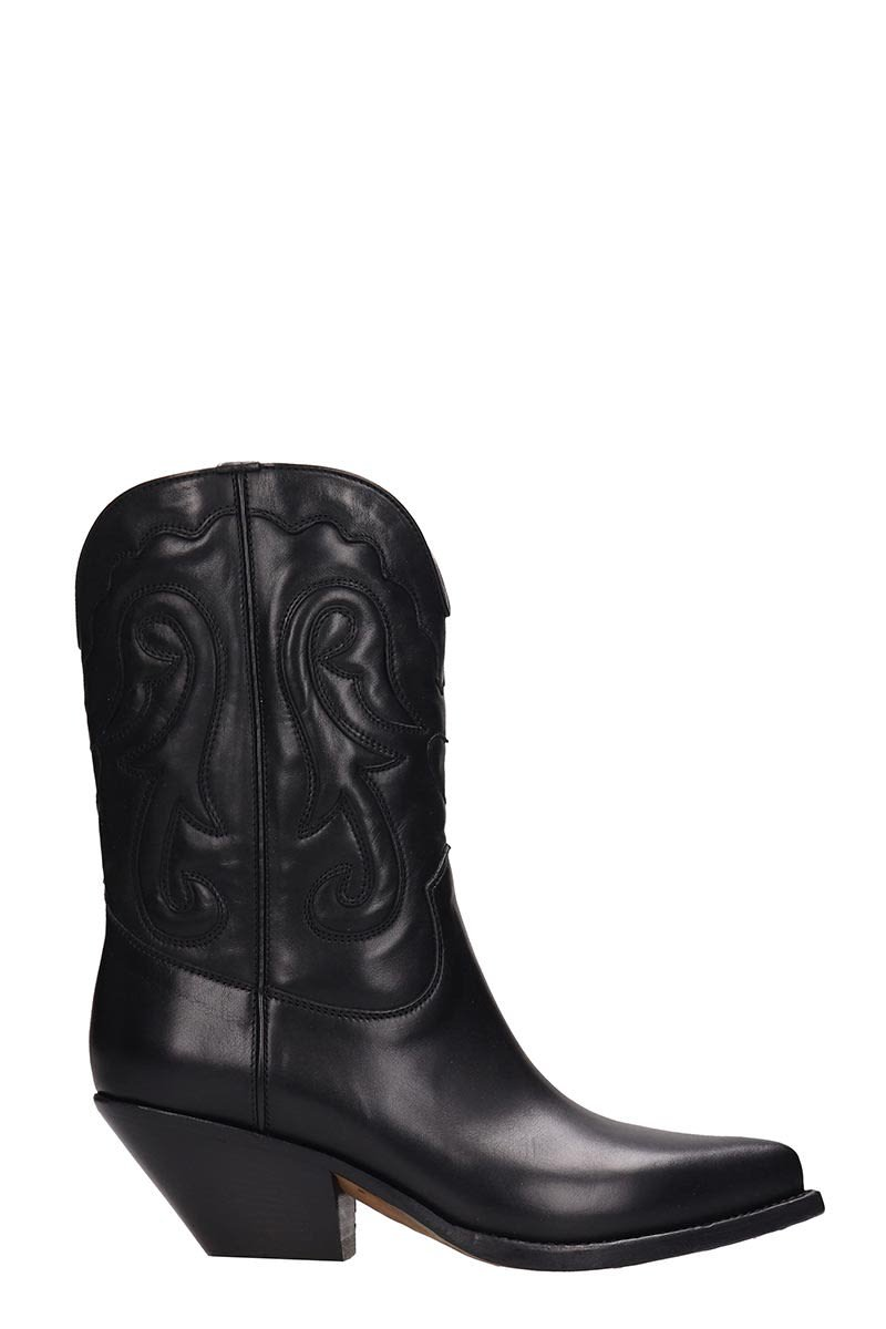 Buttero Black Leather Ankle Boots