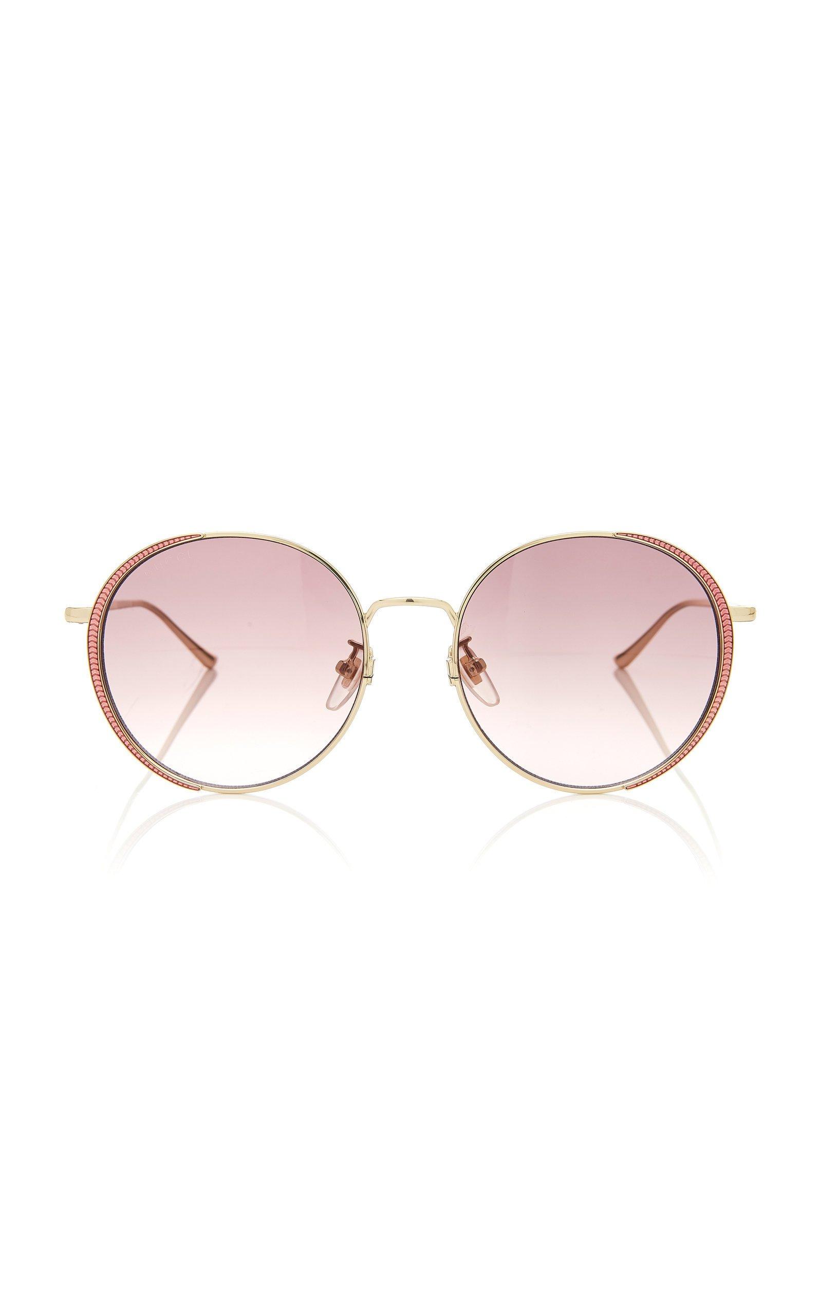 Gucci Sunglasses Guillochet Rounded Sunglasses