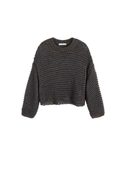 MANGO Bicolor open-knit sweater