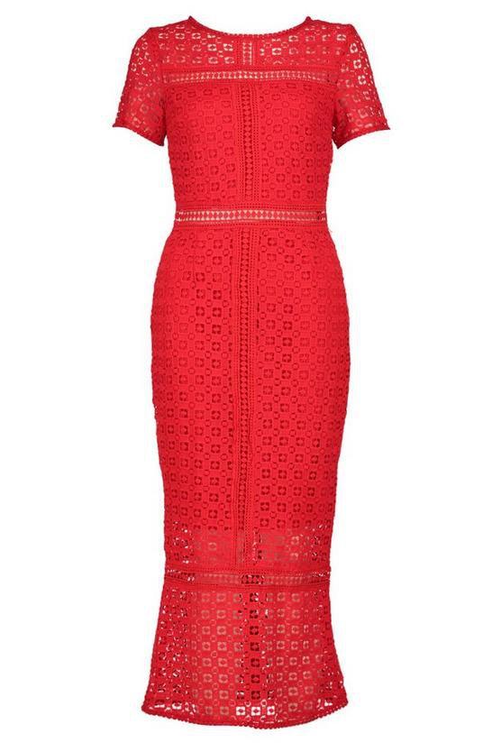 Boutique Crochet Midi Dress   Boohoo