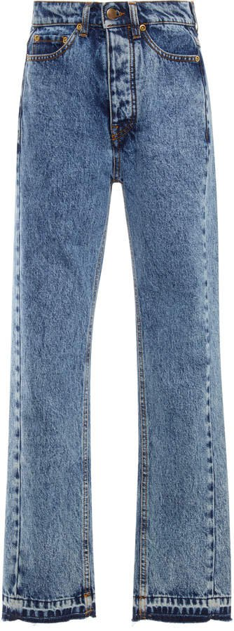 Victoria Cali High-Rise Straight-Leg Jeans