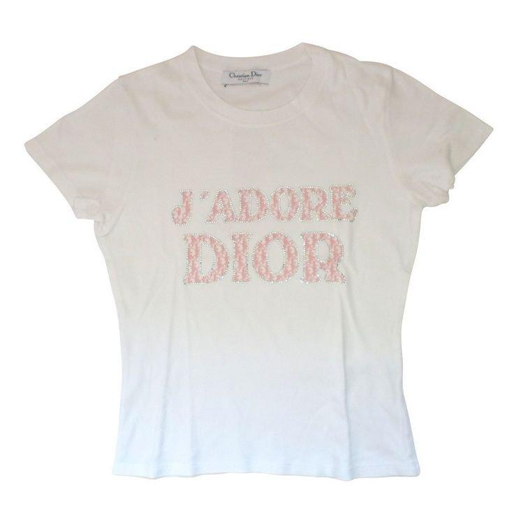 "Vintage Christian Dior ""J'adore Dior"" Pink T-Shirt"