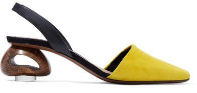 Neous - Sarco Suede And Leather Slingback Pumps - Yellow