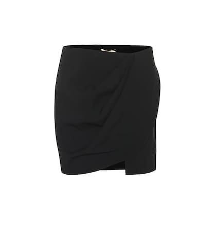Crêpe miniskirt