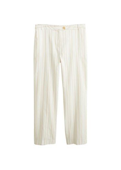 Violeta BY MANGO Straight striped trousers