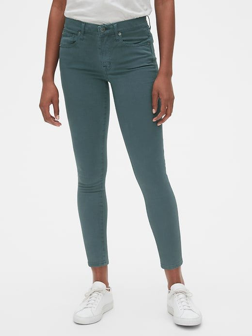 Soft Wear Mid Rise True Skinny Ankle Jeans in Color | Gap