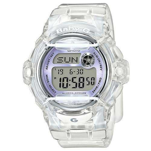 Amazon.com: Casio Baby-G BG169R-7E Semi-Transparent Women's Sports Watch (Purple/Clear): Casio - Baby-G: Watches