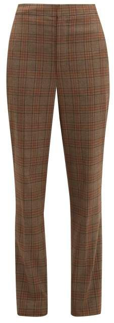 James Checked Tapered Trousers - Womens - Brown