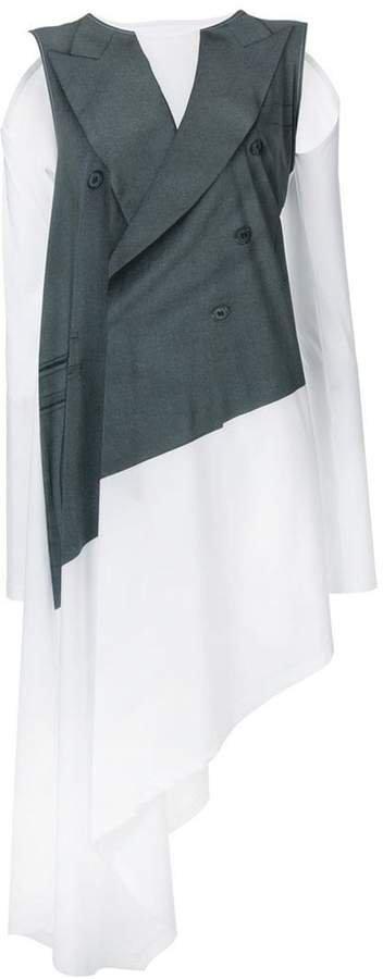 jacket layered dress
