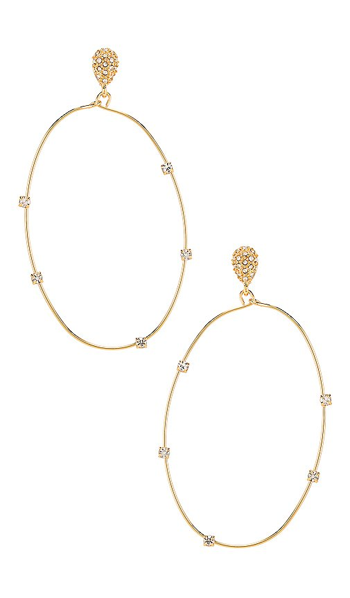 Ettika Oval Hoop Earring in Gold | REVOLVE