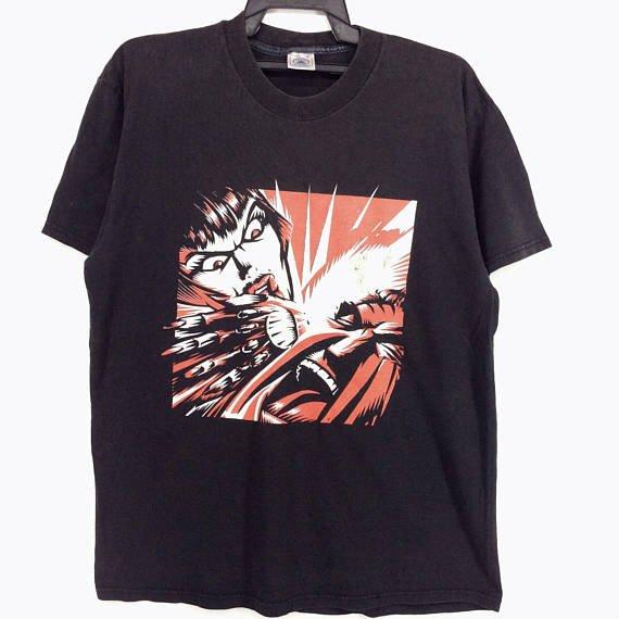 Vintage 90s KMFDM Band Shirt Hardcore Alternative Rock /