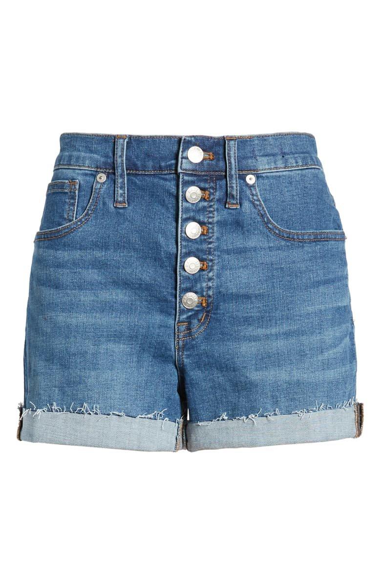 Madewell High Waist Button Front Denim Shorts (Derby) | Nordstrom
