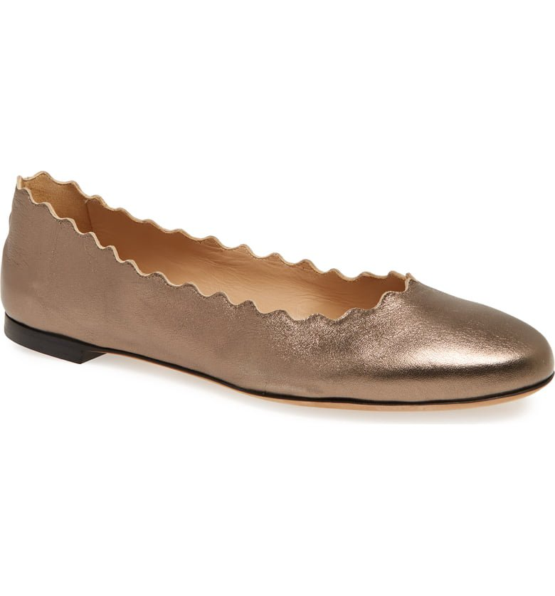 Chloé 'Lauren' Scalloped Ballet Flat (Women) | Nordstrom