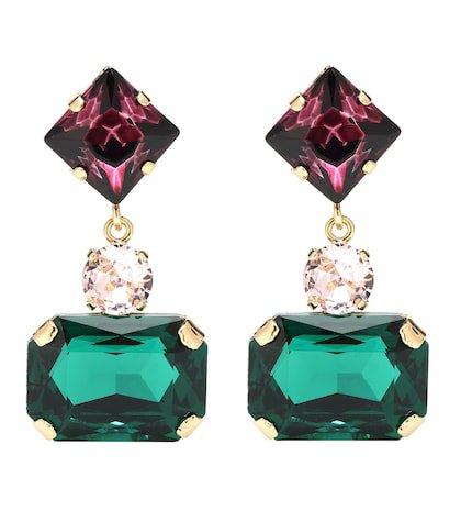 Embellished clip-on earrings