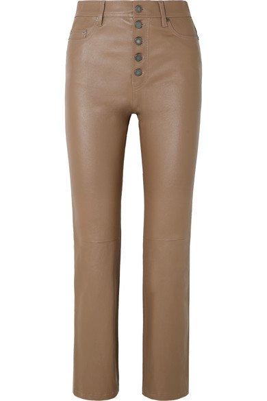 Joseph   Den cropped leather straight-leg pants   NET-A-PORTER.COM