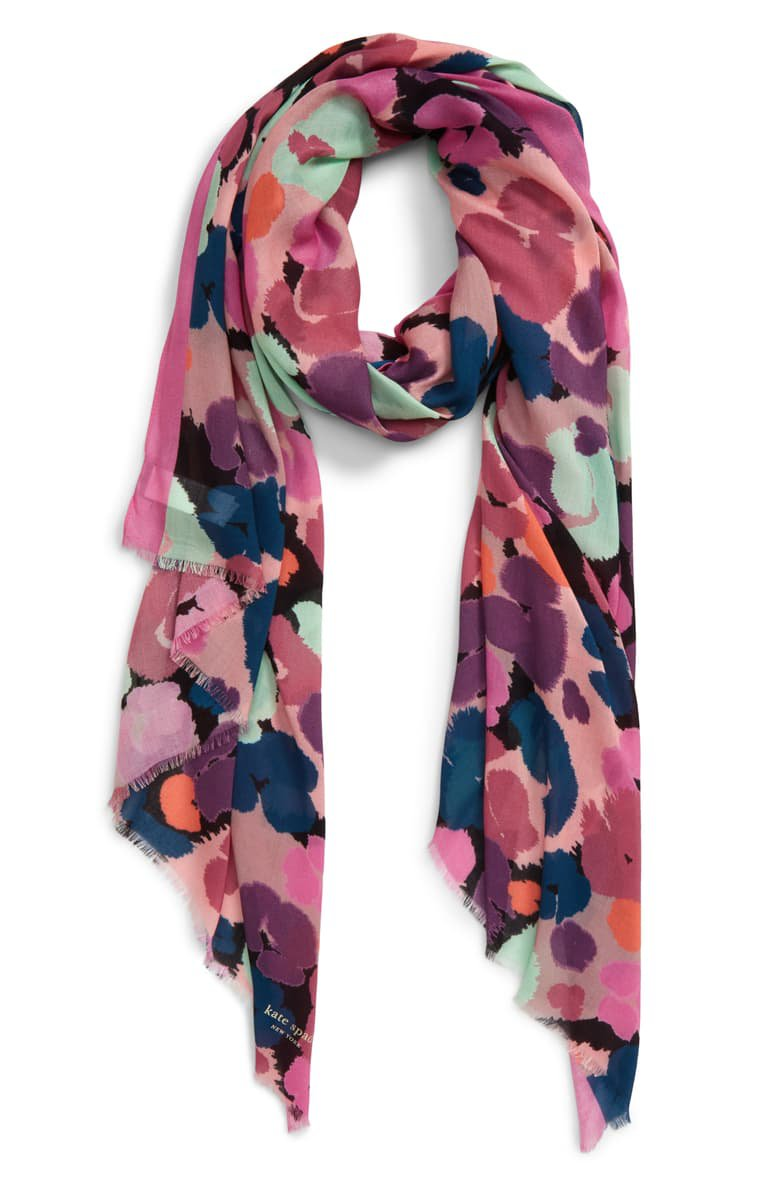 kate spade new york wild floral oblong scarf | Nordstrom