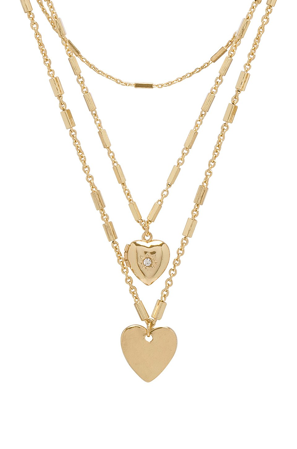 Hearts Layered Necklace