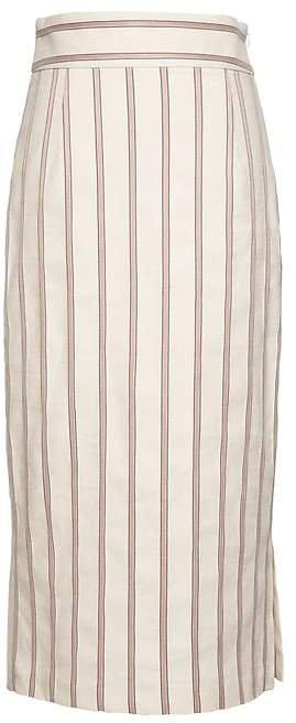 JAPAN EXCLUSIVE Linen-Blend Pencil Skirt