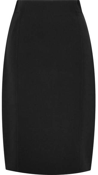 Wool-blend Skirt - Black