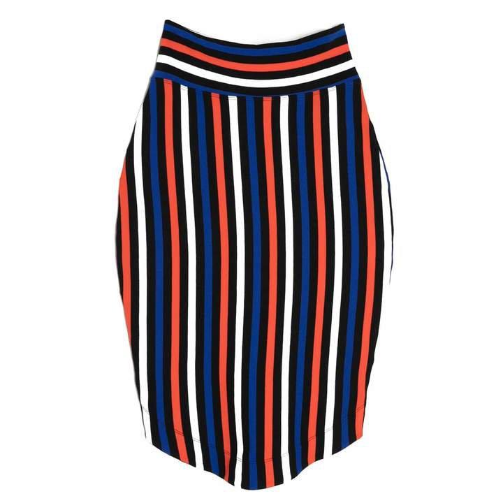 Lobo Mau Striped Pencil Skirt