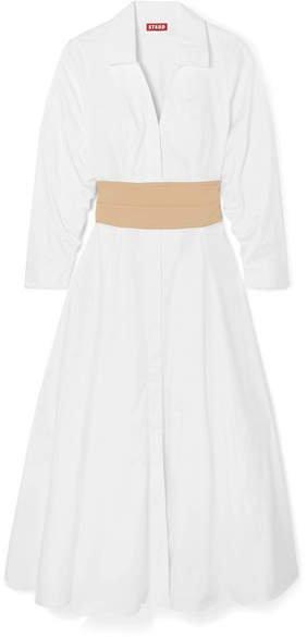 Harper Cotton-blend Poplin Dress - White