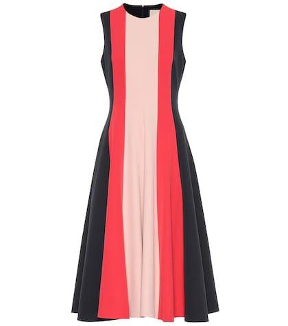 Stretch cady midi dress