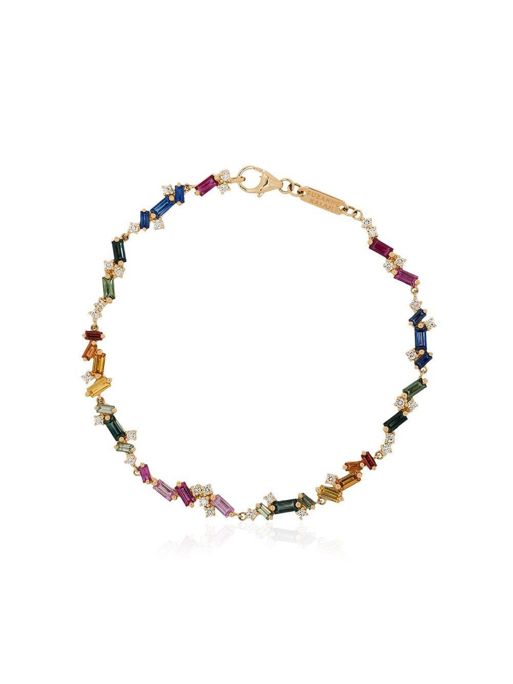 Suzanne Kalan 18Kt Yellow Gold Rainbow Bracelet | Farfetch.com