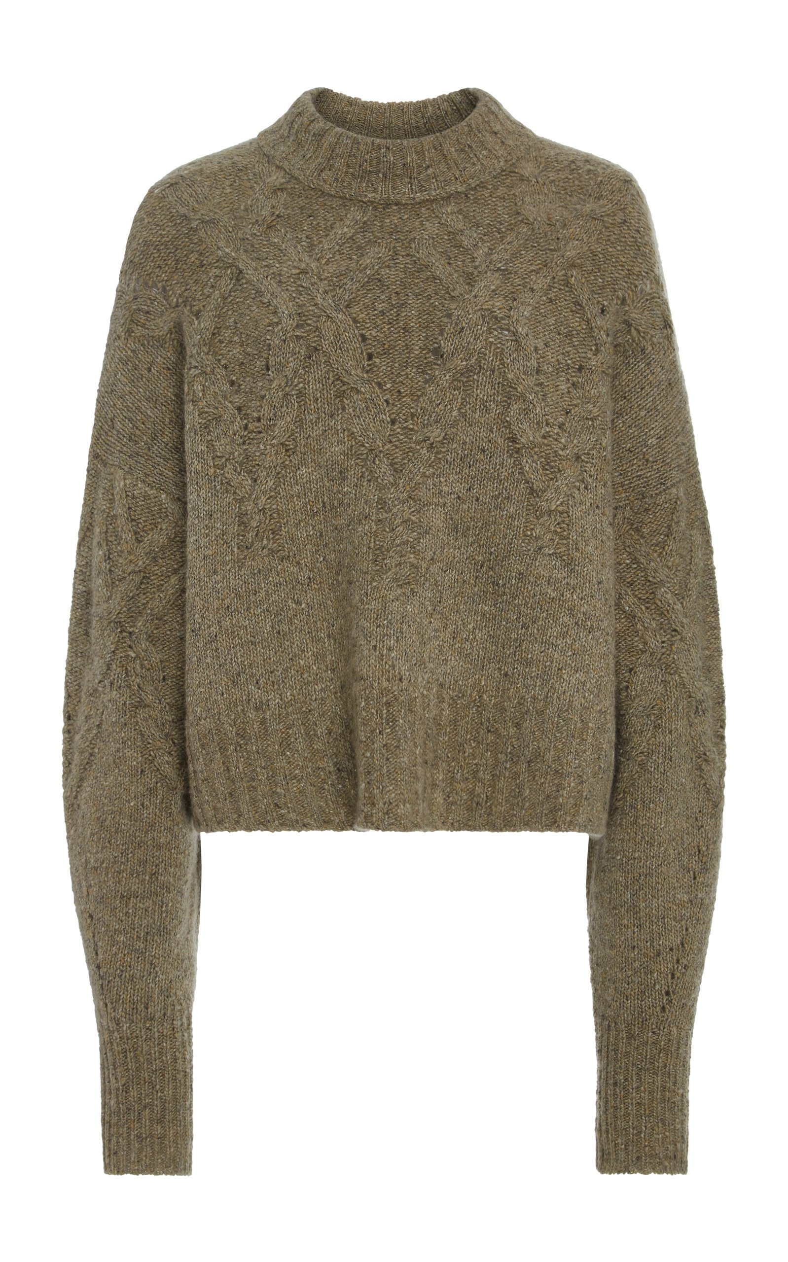 Isabel Marant Hervey Cable-Knit Cashmere Sweater