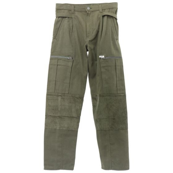 GUESS JEANS U.S.A. CORDUROY CARGO PANT / ONT : OLIVE NIGHT