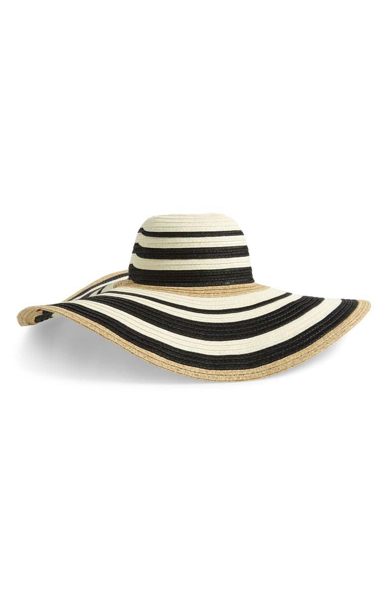 Nordstrom Modern Stripe Floppy Hat | Nordstrom