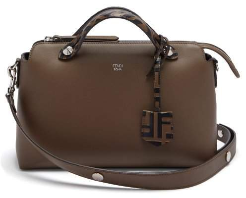 By The Way Leather Shoulder Bag - Womens - Brown Multi