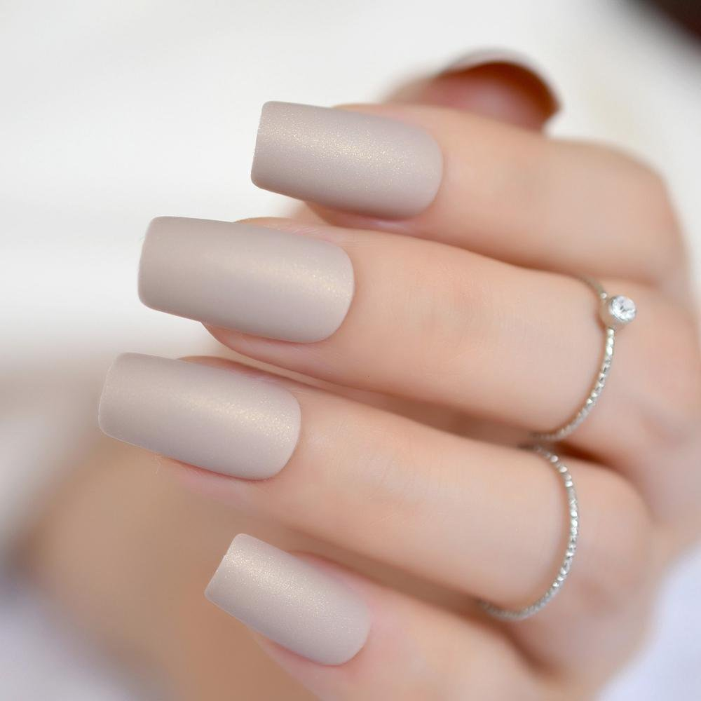24pcs-nude-color-nail-kit-simple-design-frosted.jpg (1000×1000)