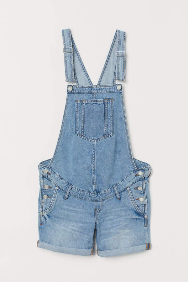 MAMA Bib Overall Shorts - Blue