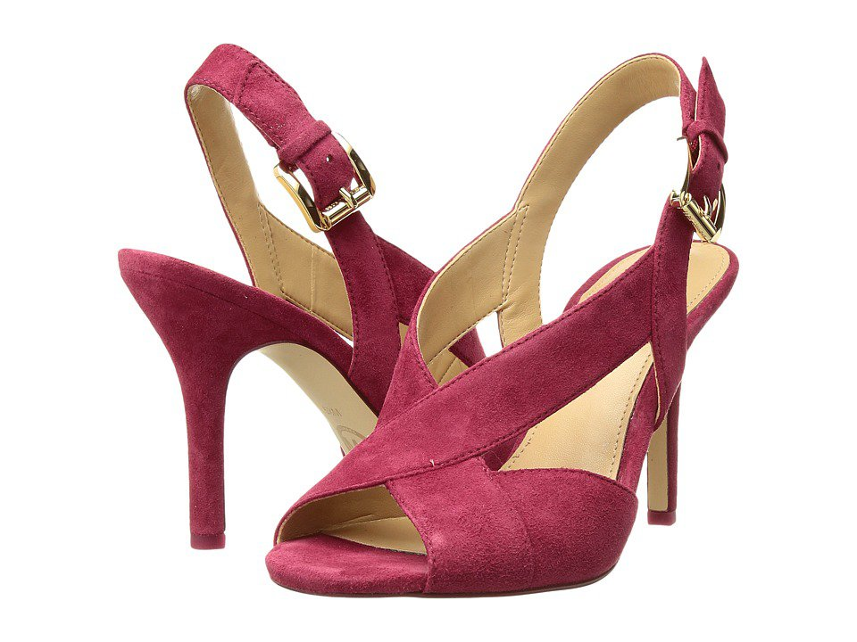MICHAEL Michael Kors - Becky Sandal (Cranberry Kid Suede) Women's Dress Sandals