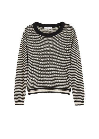 MANGO Bicolor openwork sweater
