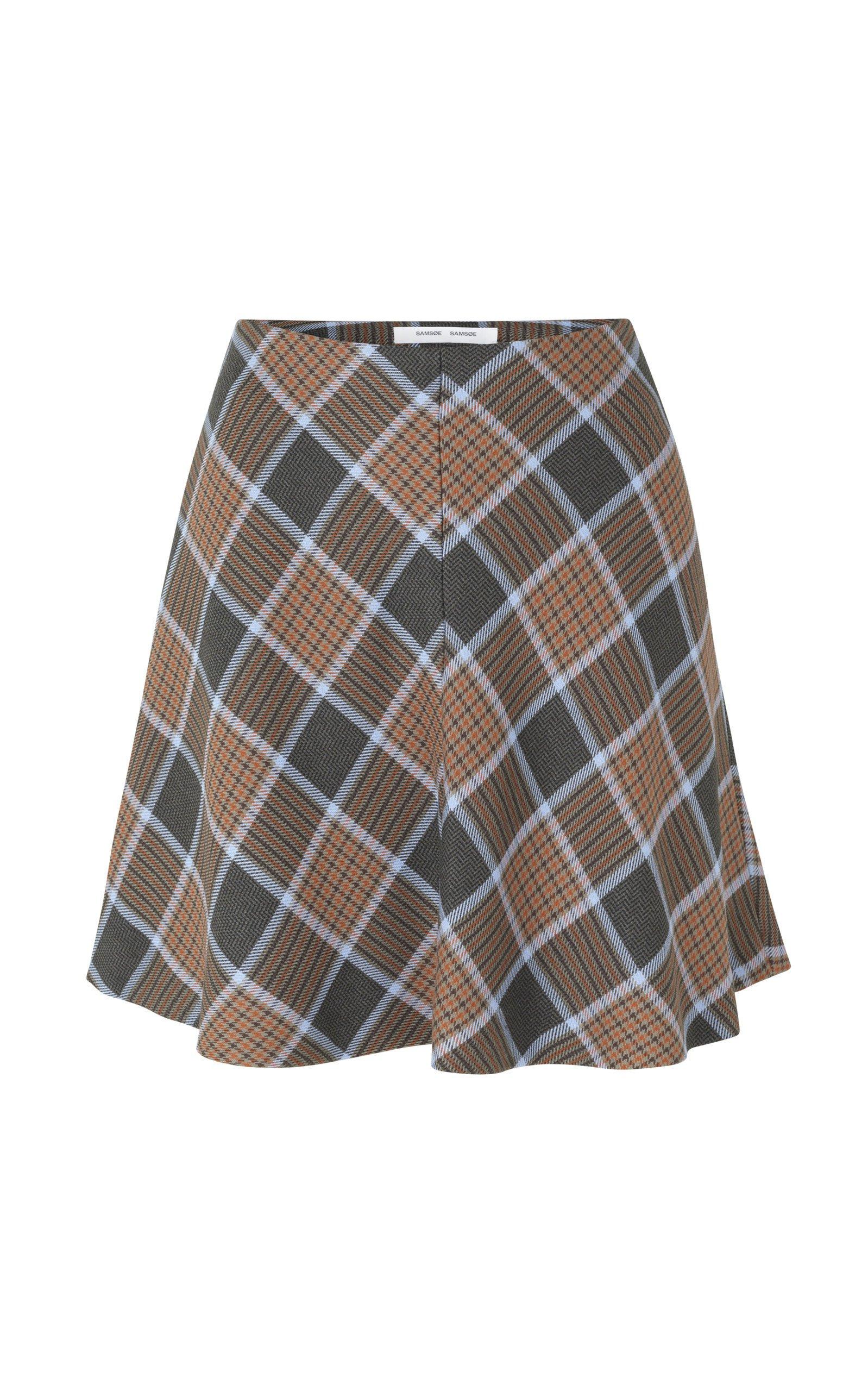 Samsøe Samsøe Kora Plaid Skirt Size: XL