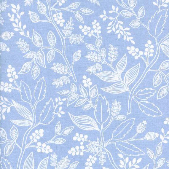 Periwinkle floral fabric