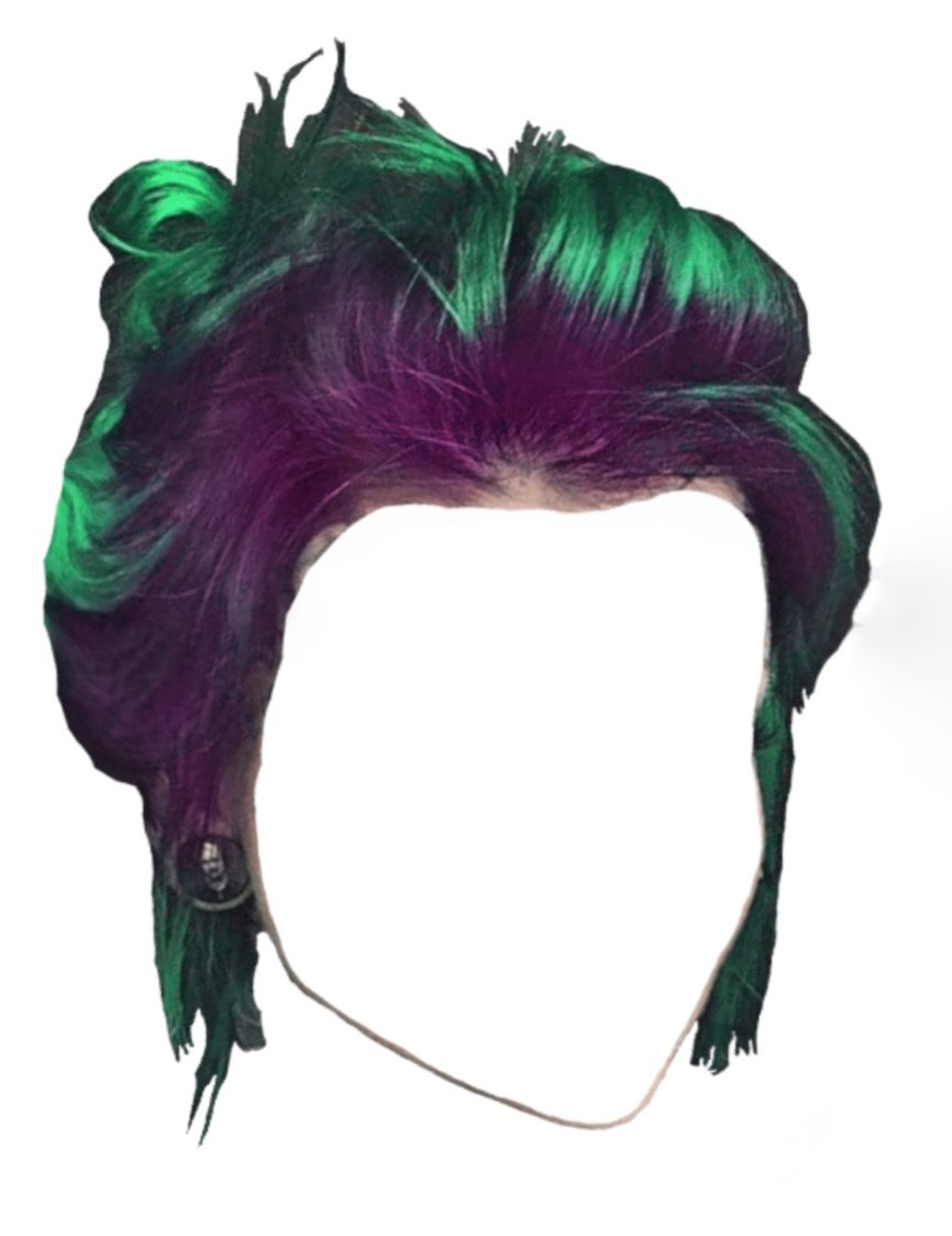 pink green hair