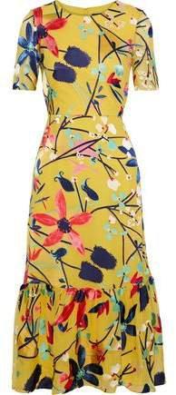 Lorna Floral-print Fil Coupe Chiffon Midi Dress