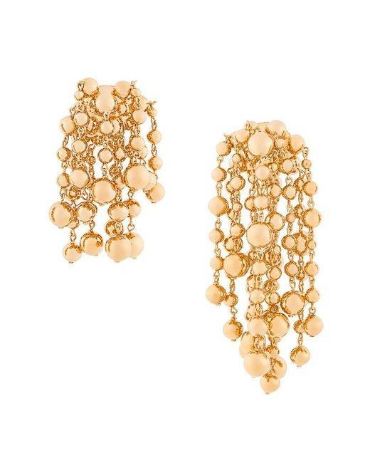 Jacquemus Women's Metallic Cluster Bead Earrings