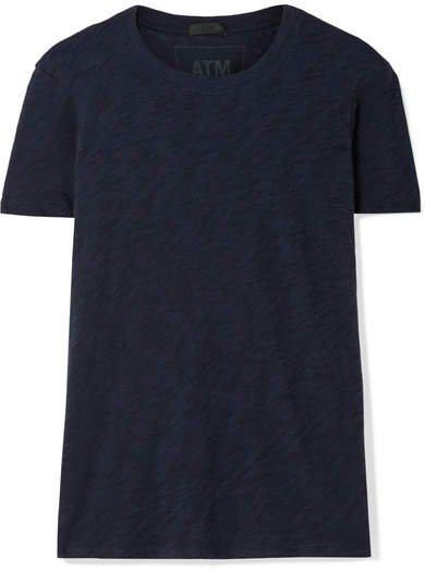 Schoolboy Slub Cotton-jersey T-shirt - Navy