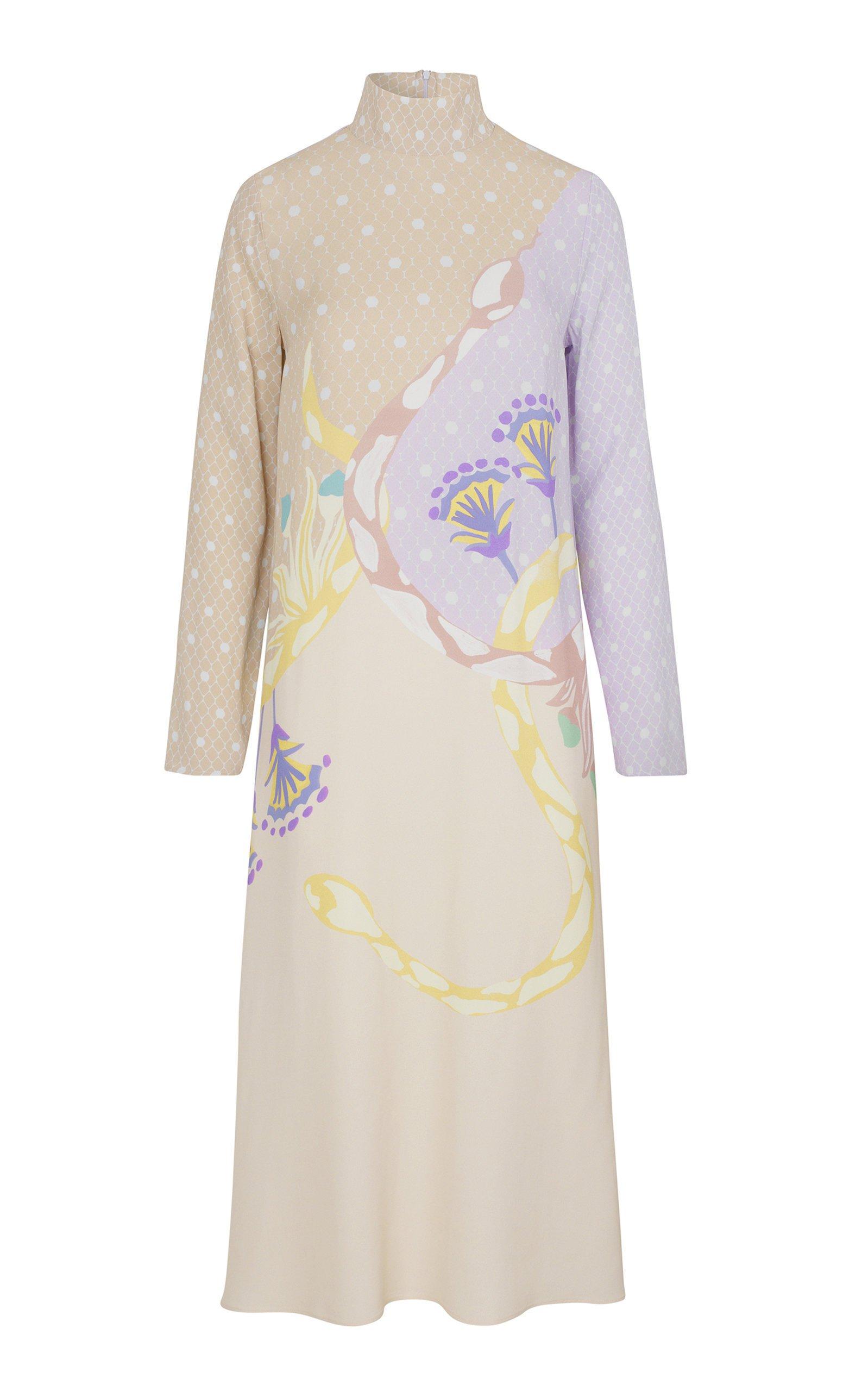 Stine Goya Millie Long Sleeve Printed Midi Dress
