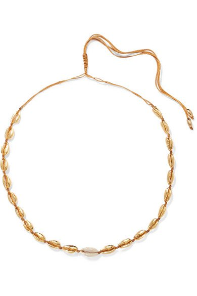 Tohum | Small Puka gold-plated and shell necklace | NET-A-PORTER.COM