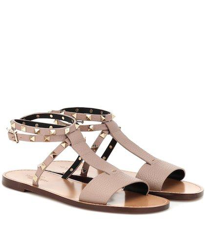 Valentino Garavani Rockstud Double leather sandals