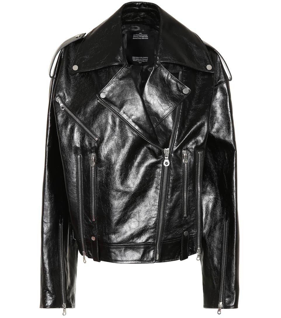Leather Biker Jacket - Rokh | mytheresa